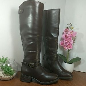 Rampage Imelda Riding Boots Brown sz 6